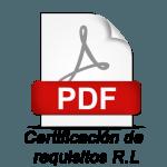 Certificacion de Requisitos